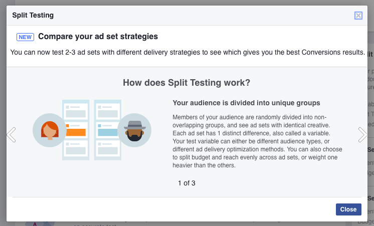 Facebook ad testing explained