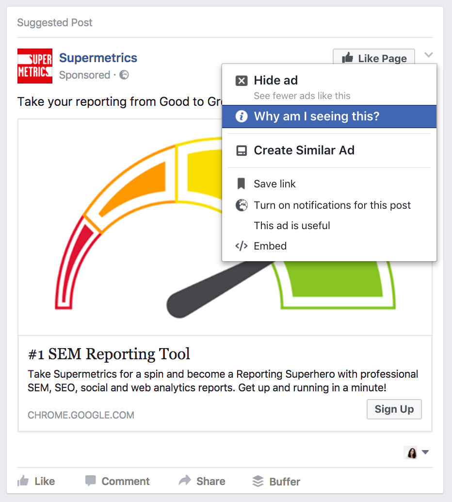 Use Facebook ads research as a spy tool