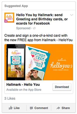 App Install Ad by Hallmark