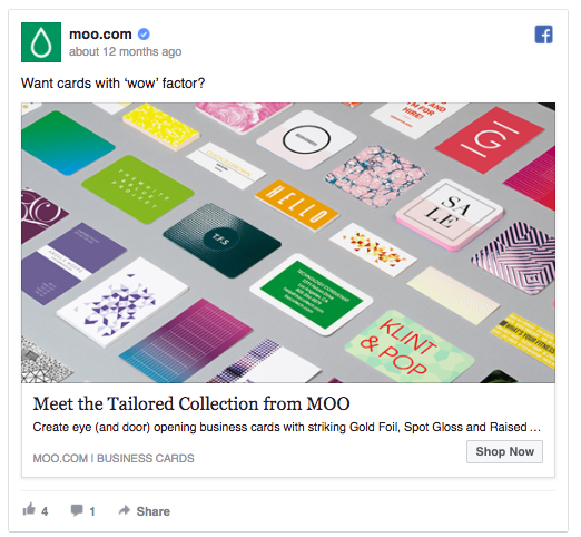 Facebook ad by MOO