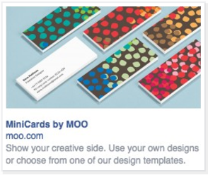 Facebook Ad for MOO