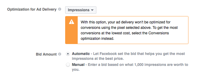 Optimize Your Ads for Impressions