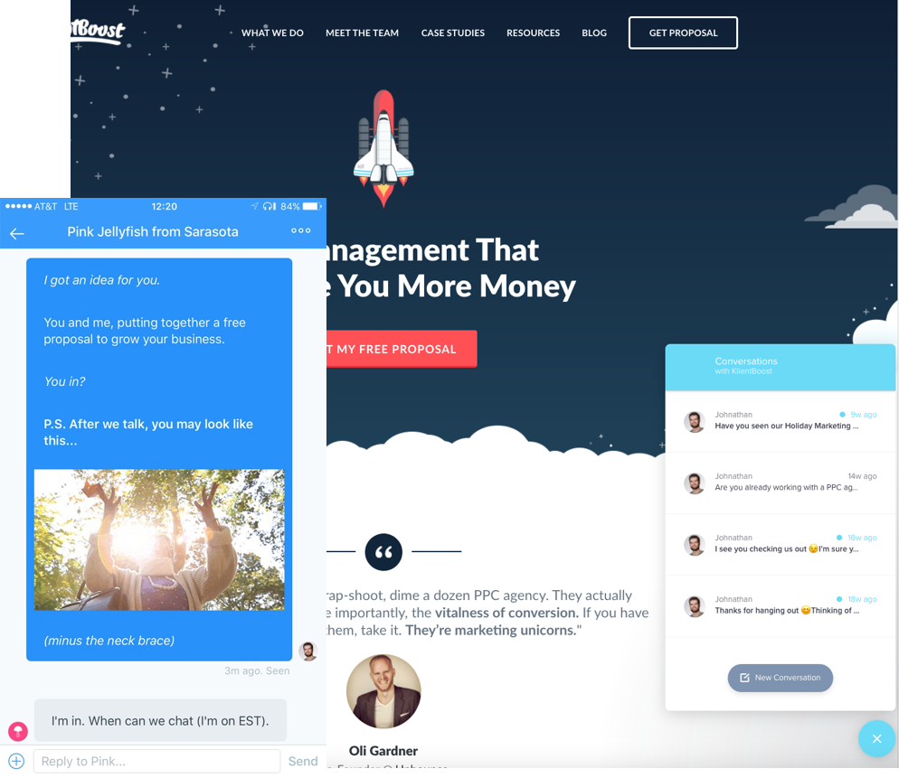 Take the opportunity to get feedback from website & landing page visitors via chat
