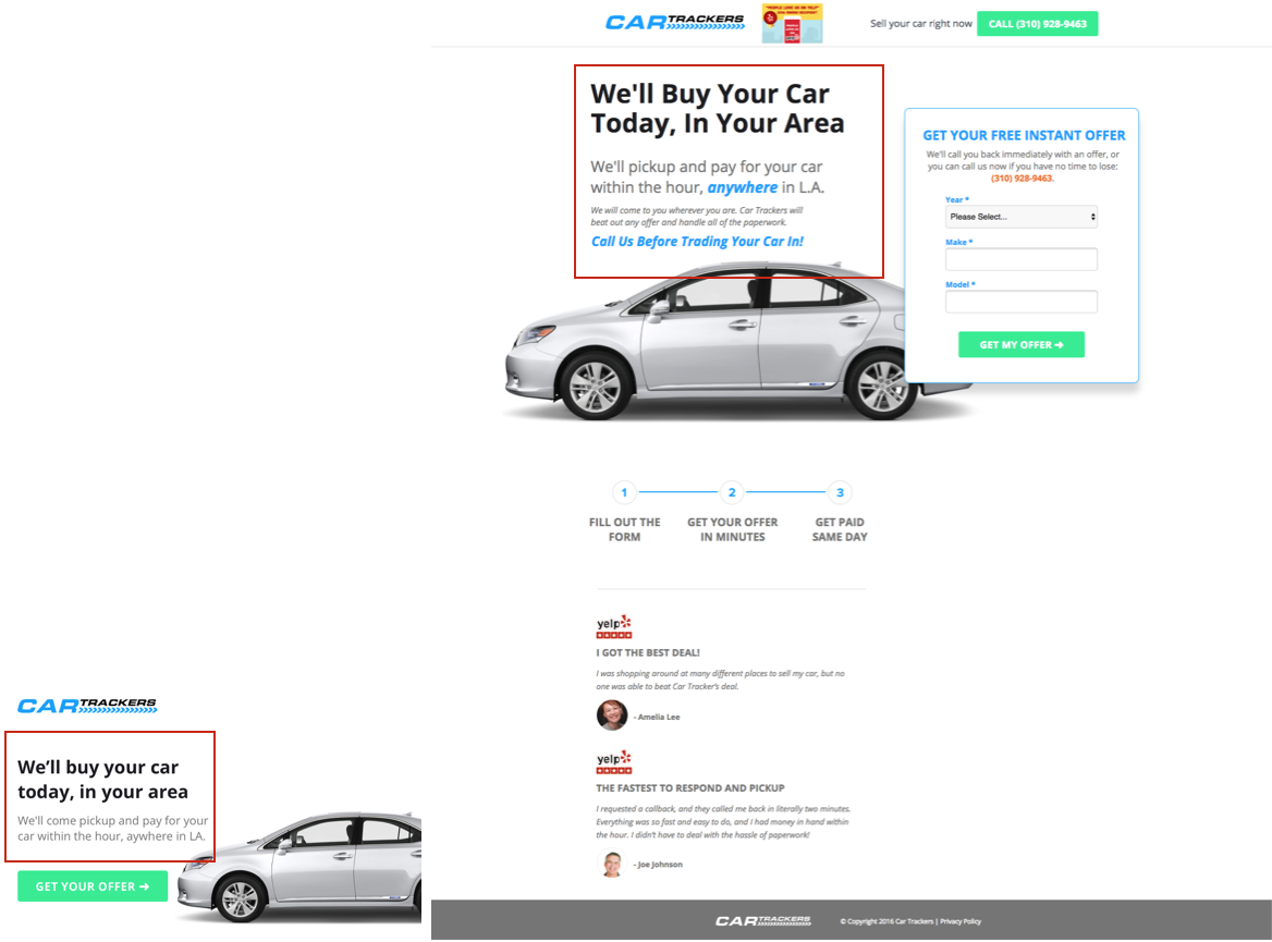 Match Your Ads to Respective Landing Pages