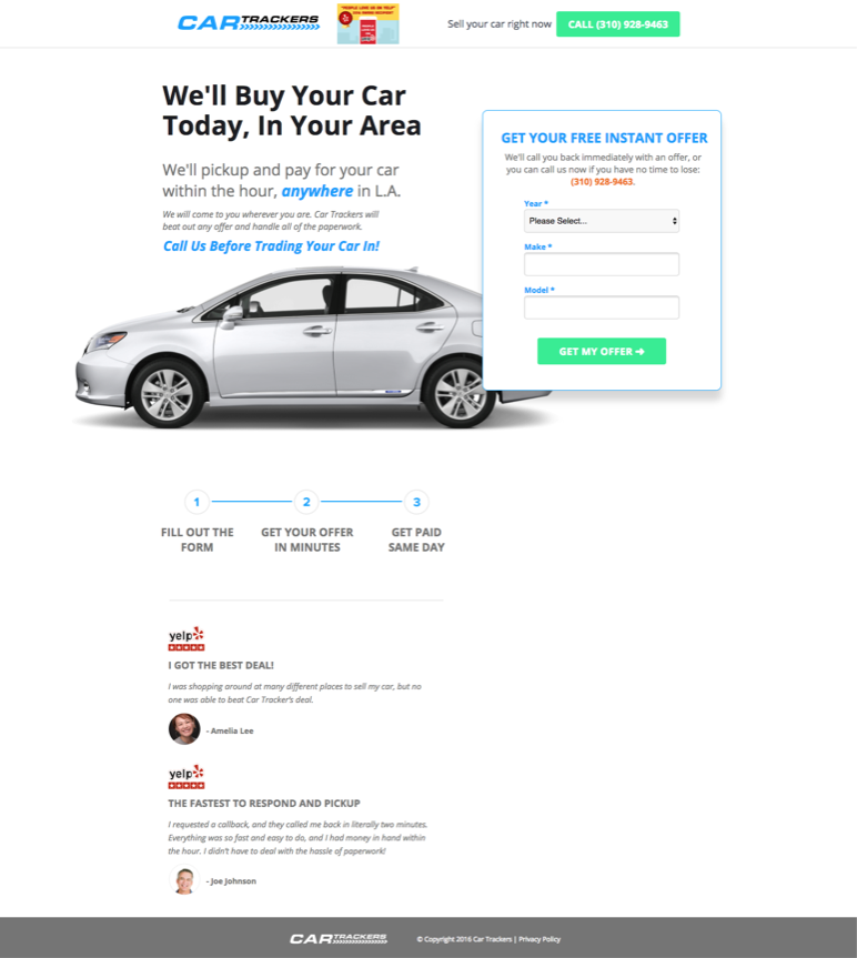 UVP Clearly Stated in This KlientBoost Landing Page