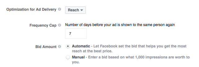 Facebook Reach Objective Allows You to Set Frequency Cap