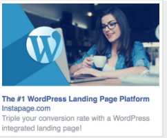 Instapage right-hand column ad