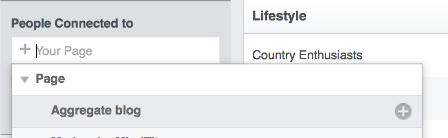 Select the Facebook Page you want to analyze