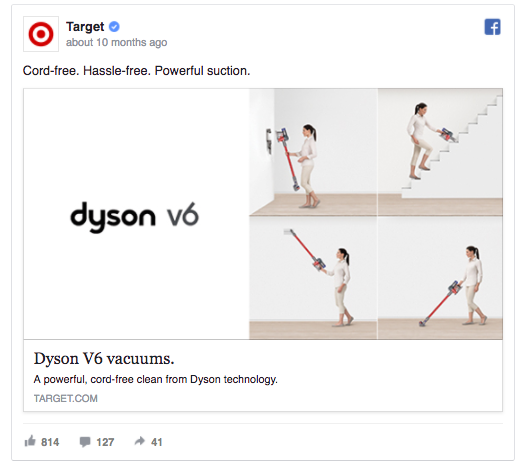 target facebook ad example