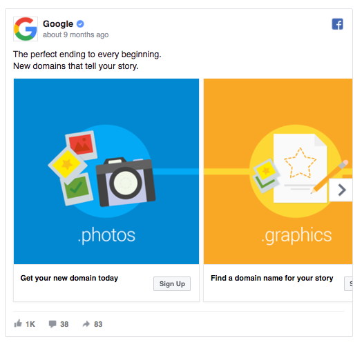 Google's ad addresses the reader many times over