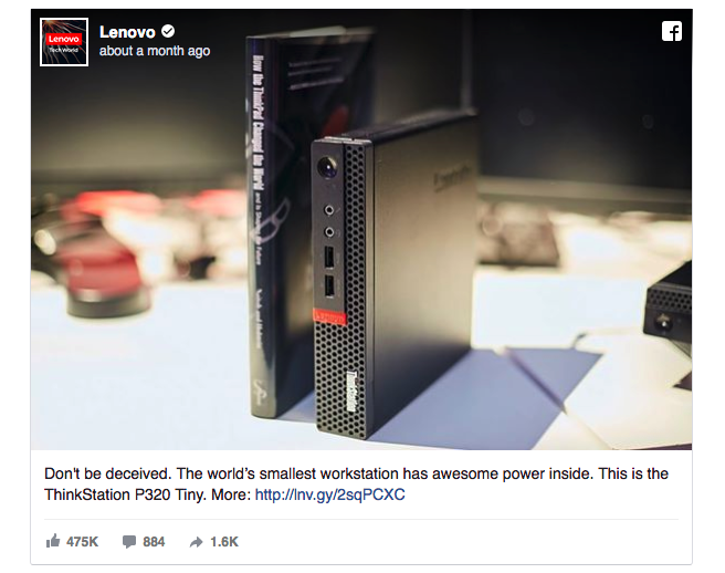 This Lenovo ad starts with invoking an element of fear.