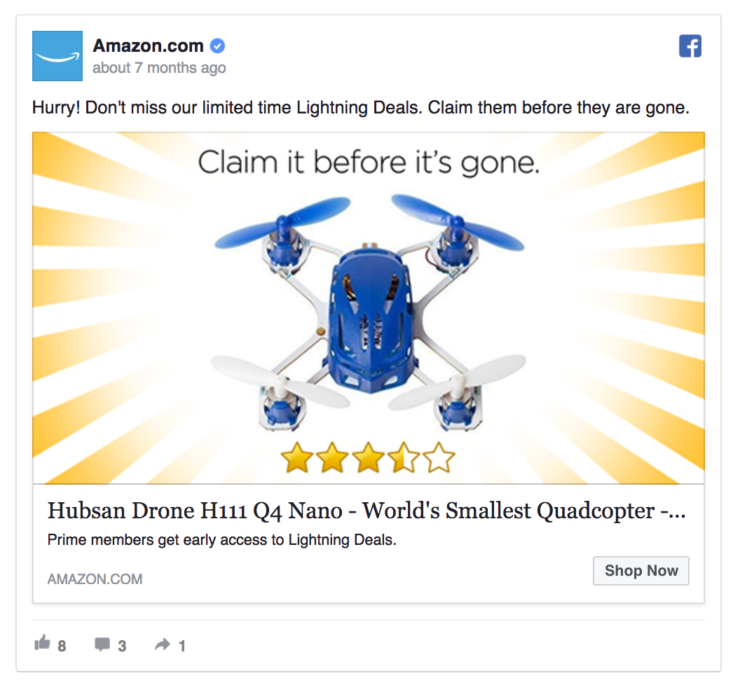 Amazon remarkets to drone lovers