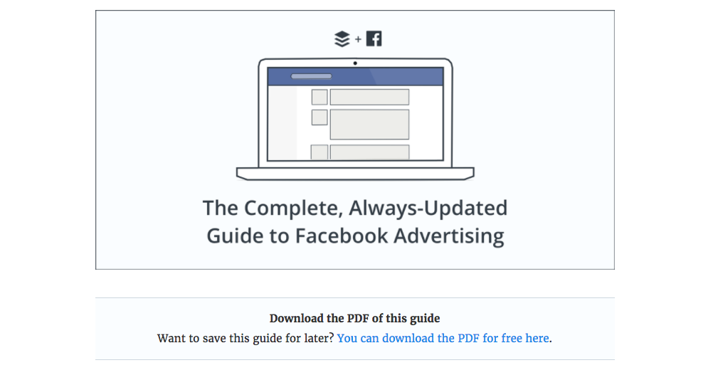 You can download Buffer's guide to Facebook advertising