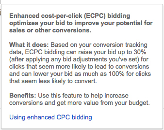 Decide whether you want to use Enhanced CPC Bidding