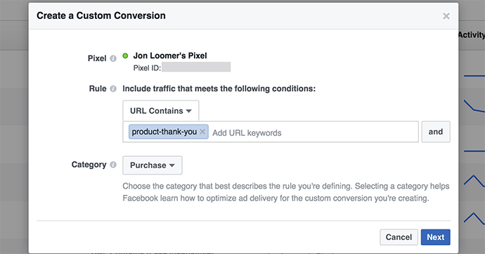 You'll need the Facebook Pixel for Custom Audiences