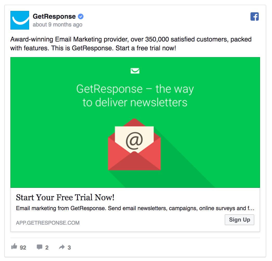 facebook ads ctr high contrast