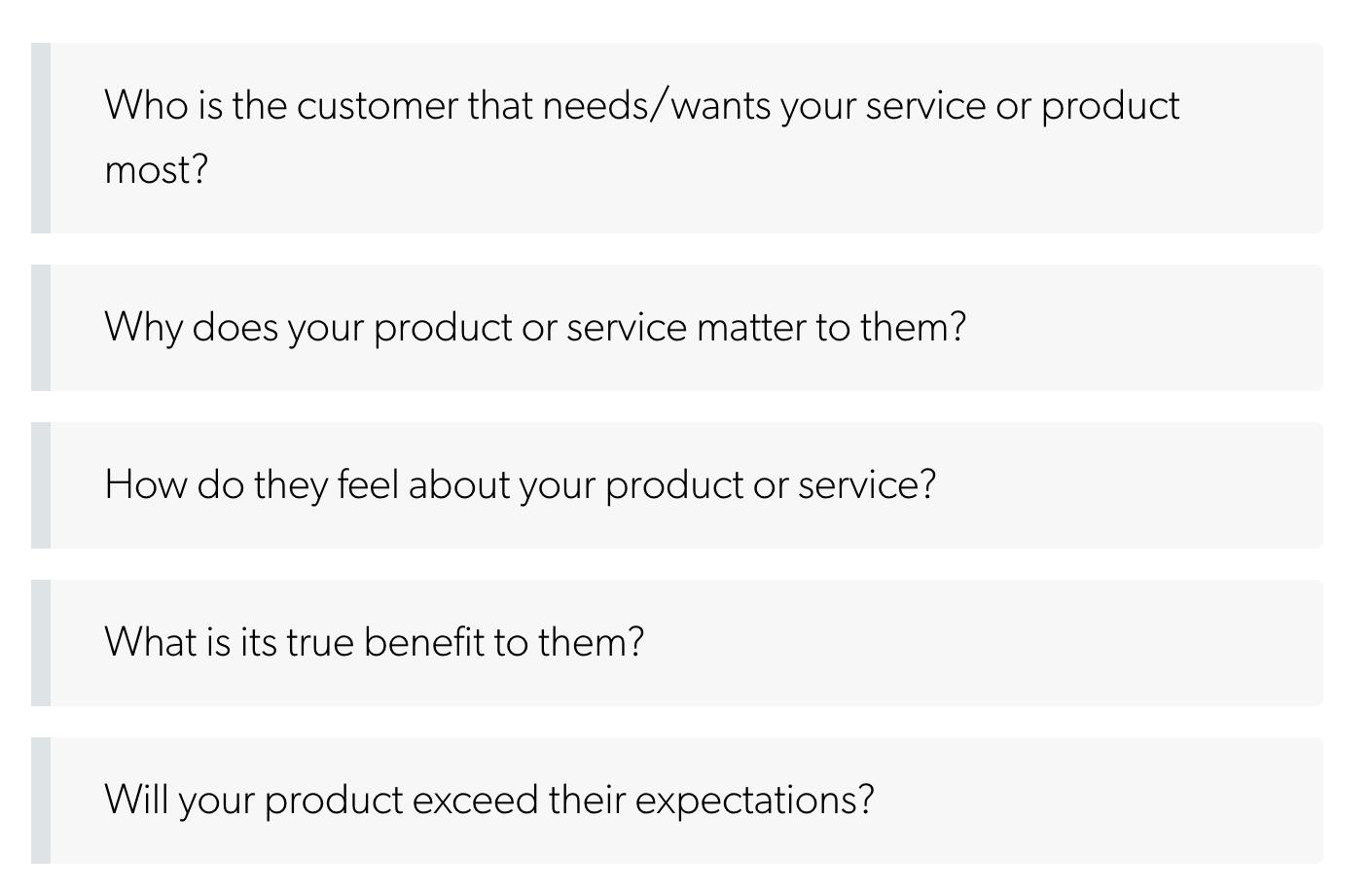 Define your high-expectation customer