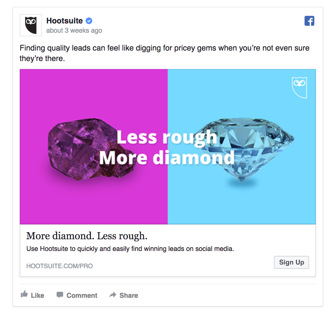 Hootsuite's ad shines with creativity
