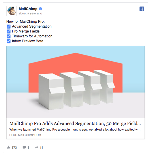 MailChimp's ad could retarget past trial users