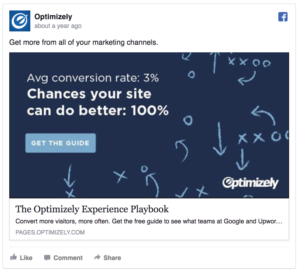 Optimizely is promoting a free playbook