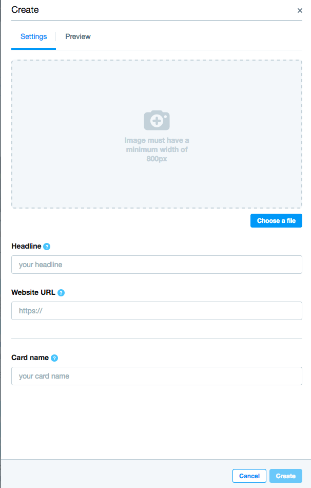 Creating a Twitter Website Card