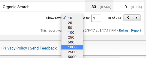 Make sure you show all rows before exporting to Excel