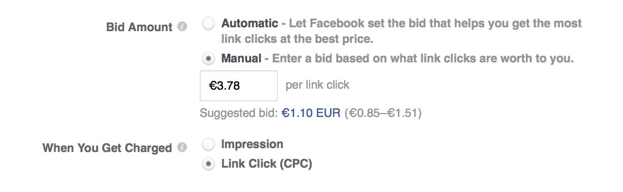 You can set manual ad bids