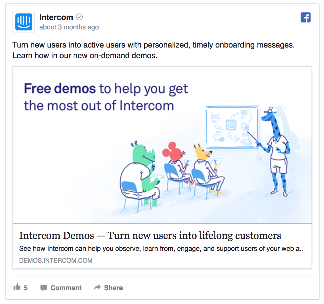 This Intercom ad introduces a specific feature