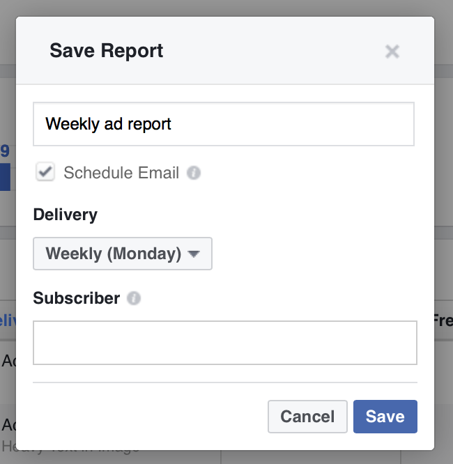 Get free custom reports straight to your inbox