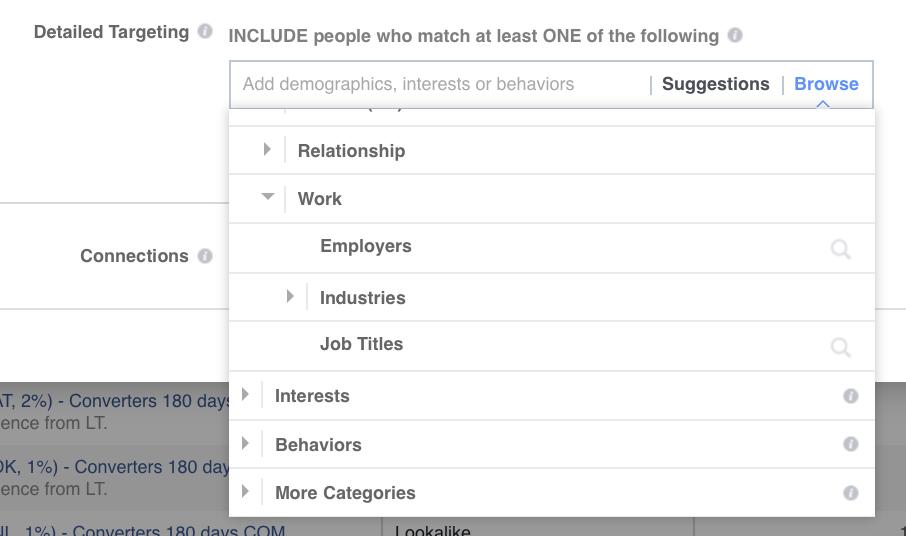 Target people based on their job