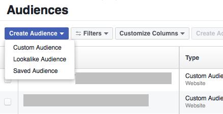 Create Facebook Custom Audiences.