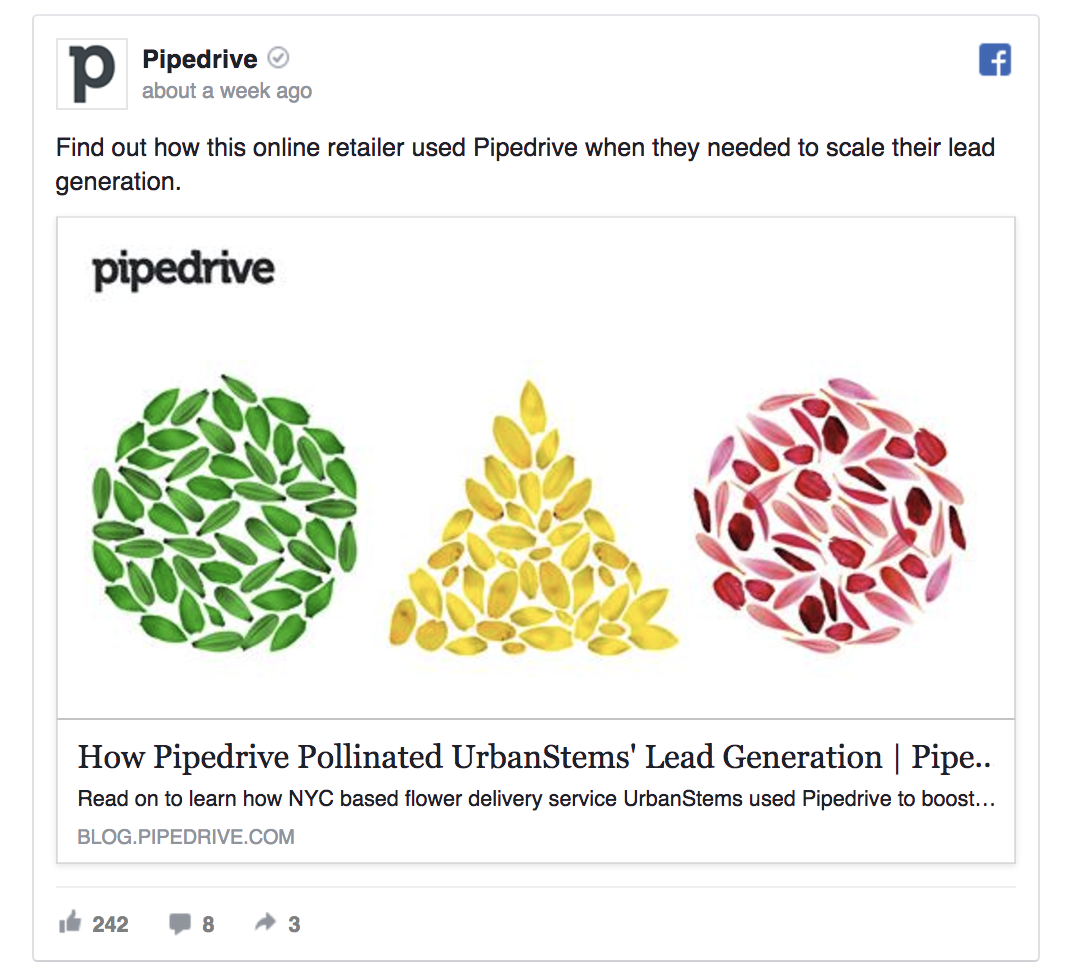 Pipedrive is promoting a case study.
