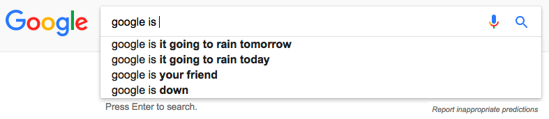 If you were really my friend, you'd give me more options, Google.