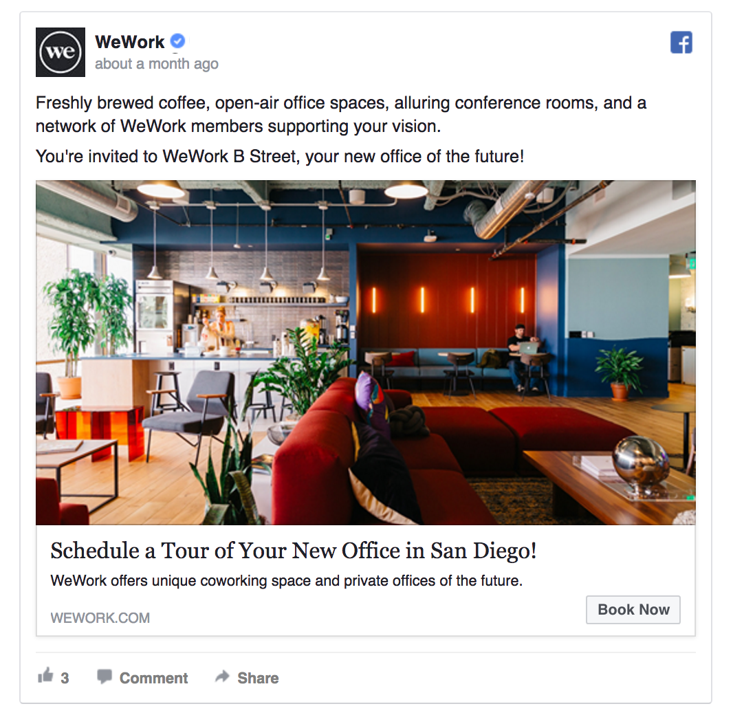 WeWork offers a free office tour.