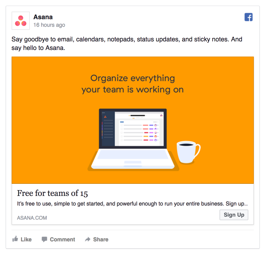 Asana gives their product away for free.