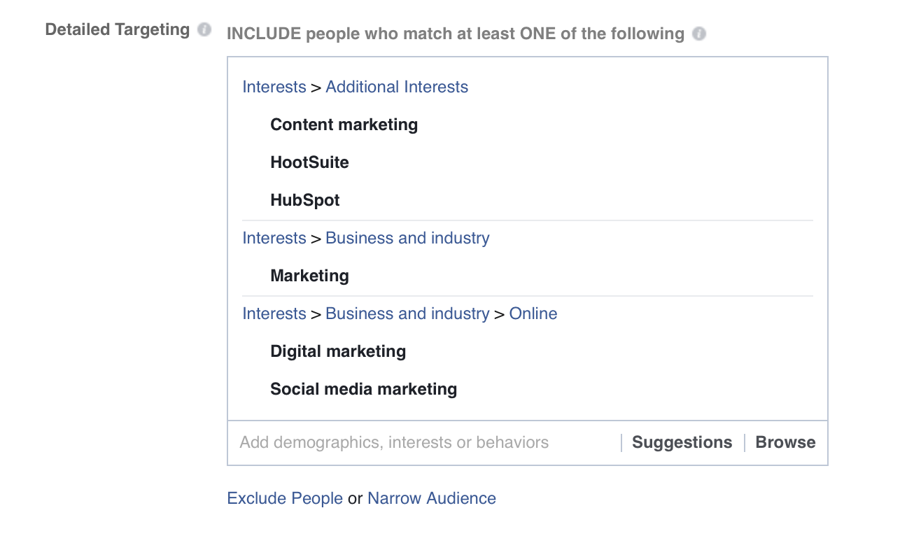 Use Facebook Saved Audiences to reach potential buyers.