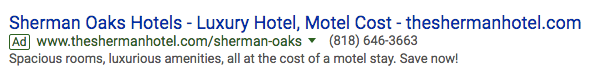 See how Sherman Oaks Hotels does it.