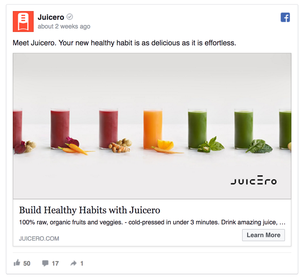 Juicero's first ad created brand awareness.