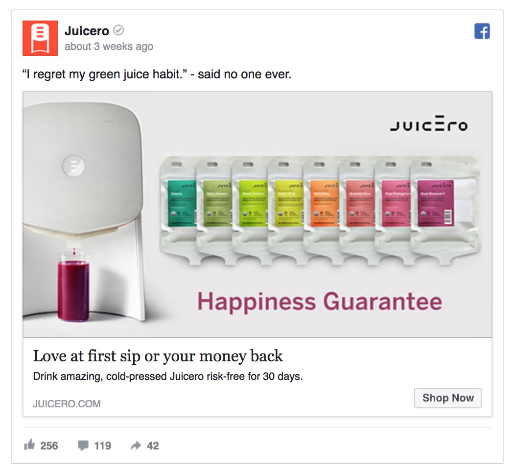 Juicero offers a money-back guarantee.