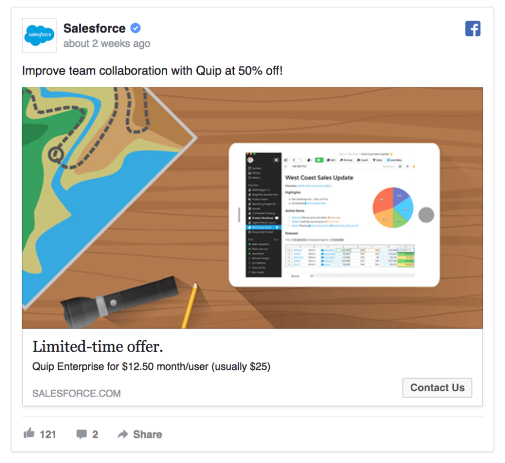 Salesforce offers a discount.