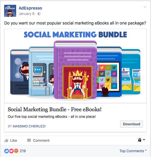 AdEspresso's Facebook Lead Ad