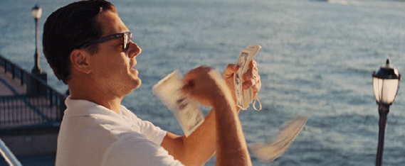 """Be """"Wolf of Wall Street"""" rich."""