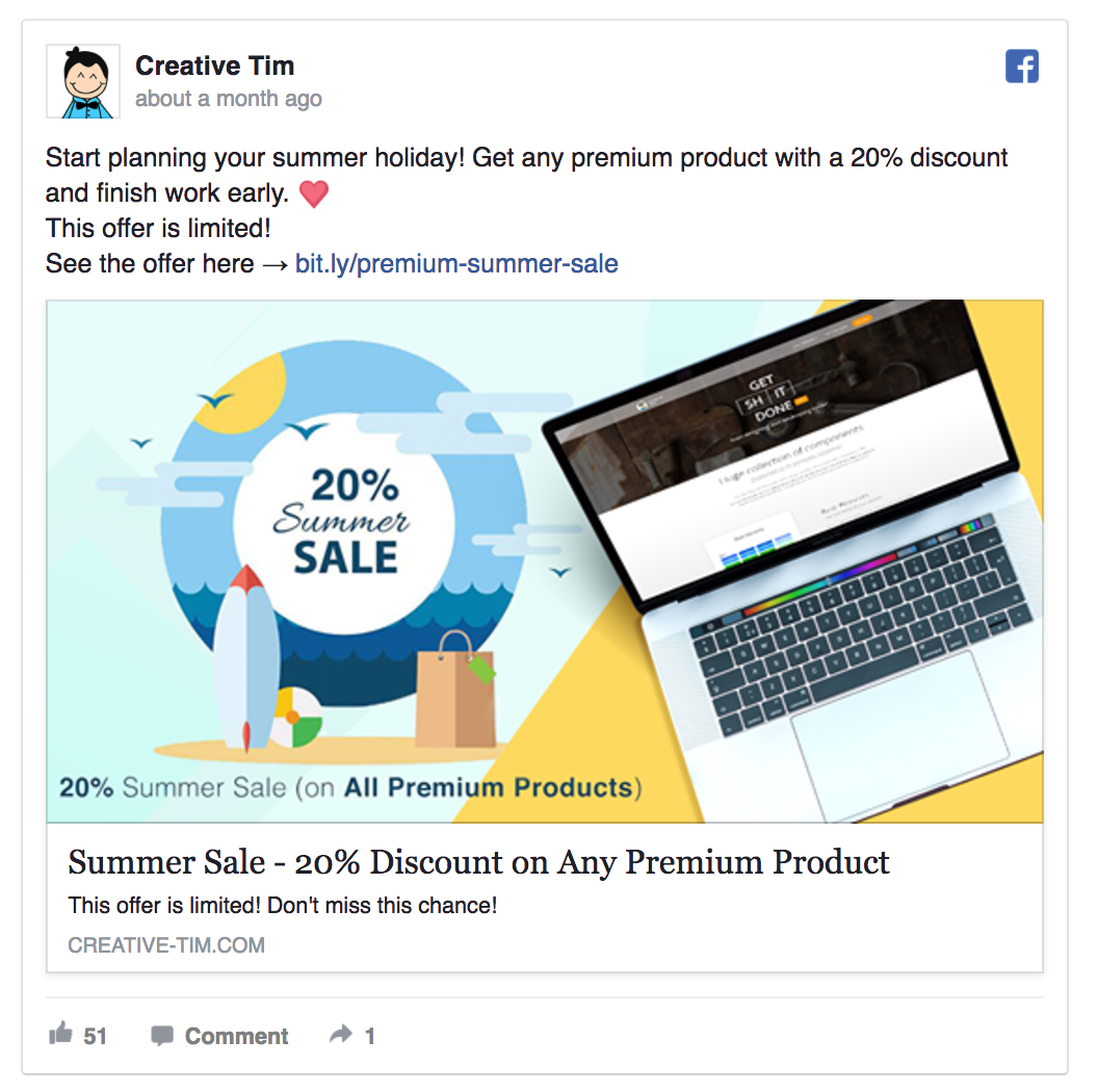 This ad mixes a discount offer with FOMO.