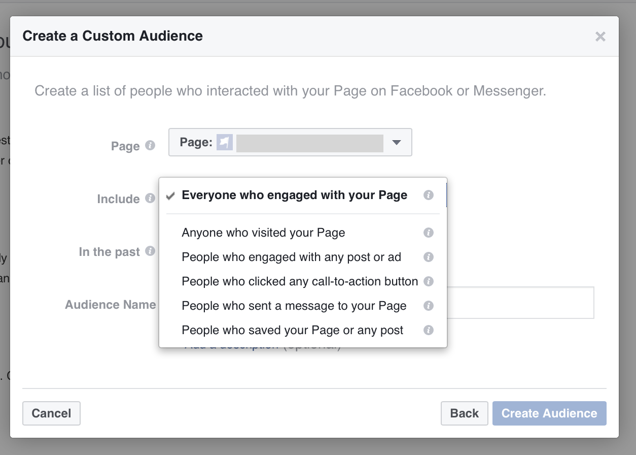 You can also retarget Facebook Page engagement.