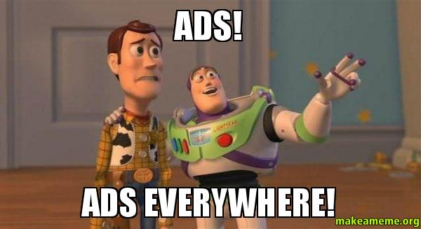 It's easy to get distracted with all the ads.