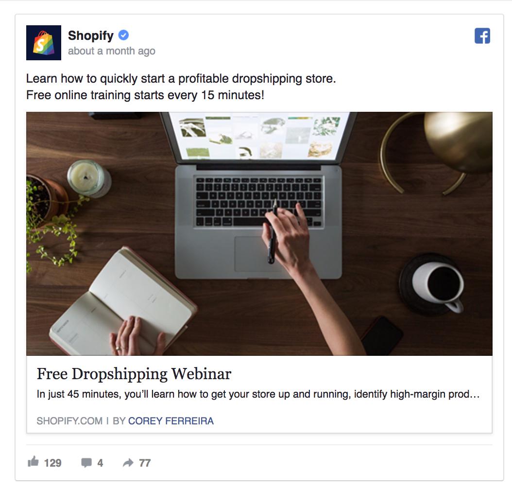 Shopify is offering a free webinar.