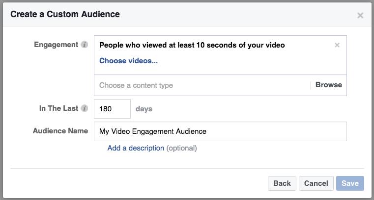 Video engagement-based retargeting