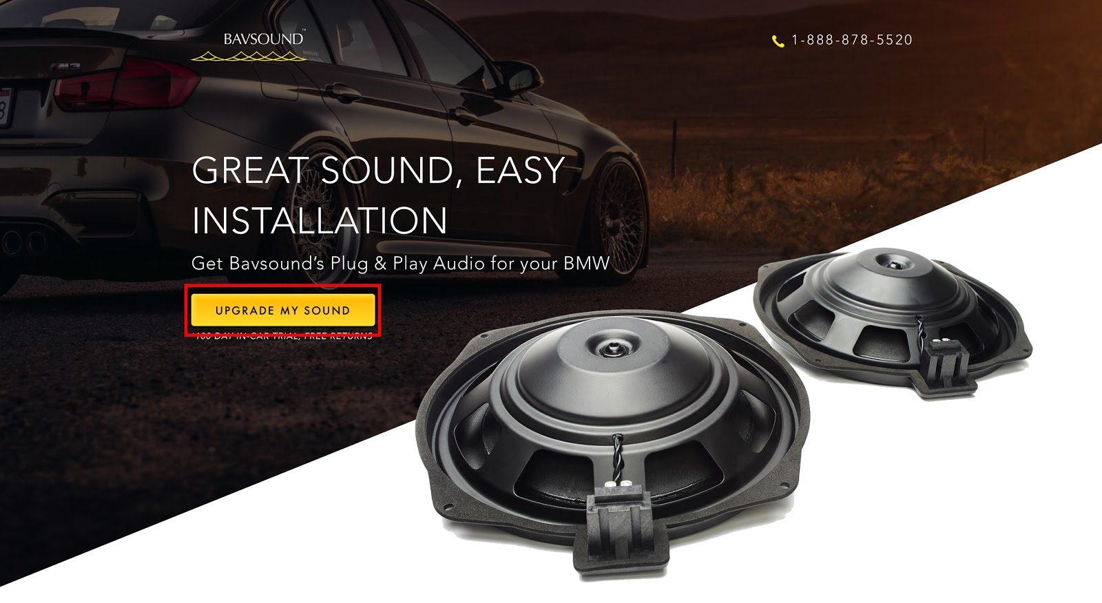 "landing page not converting CTA sounds more personal with ""Upgrade My Sound.'"
