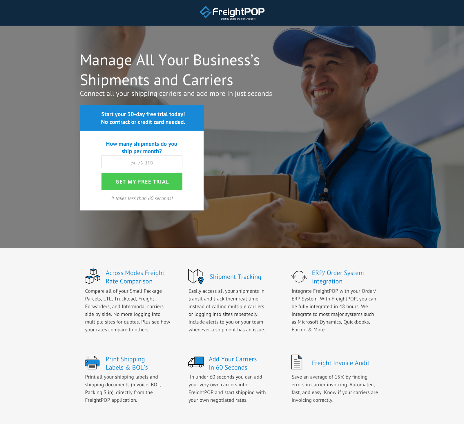 """Manage All Your Business's Shipments and Carriers"""