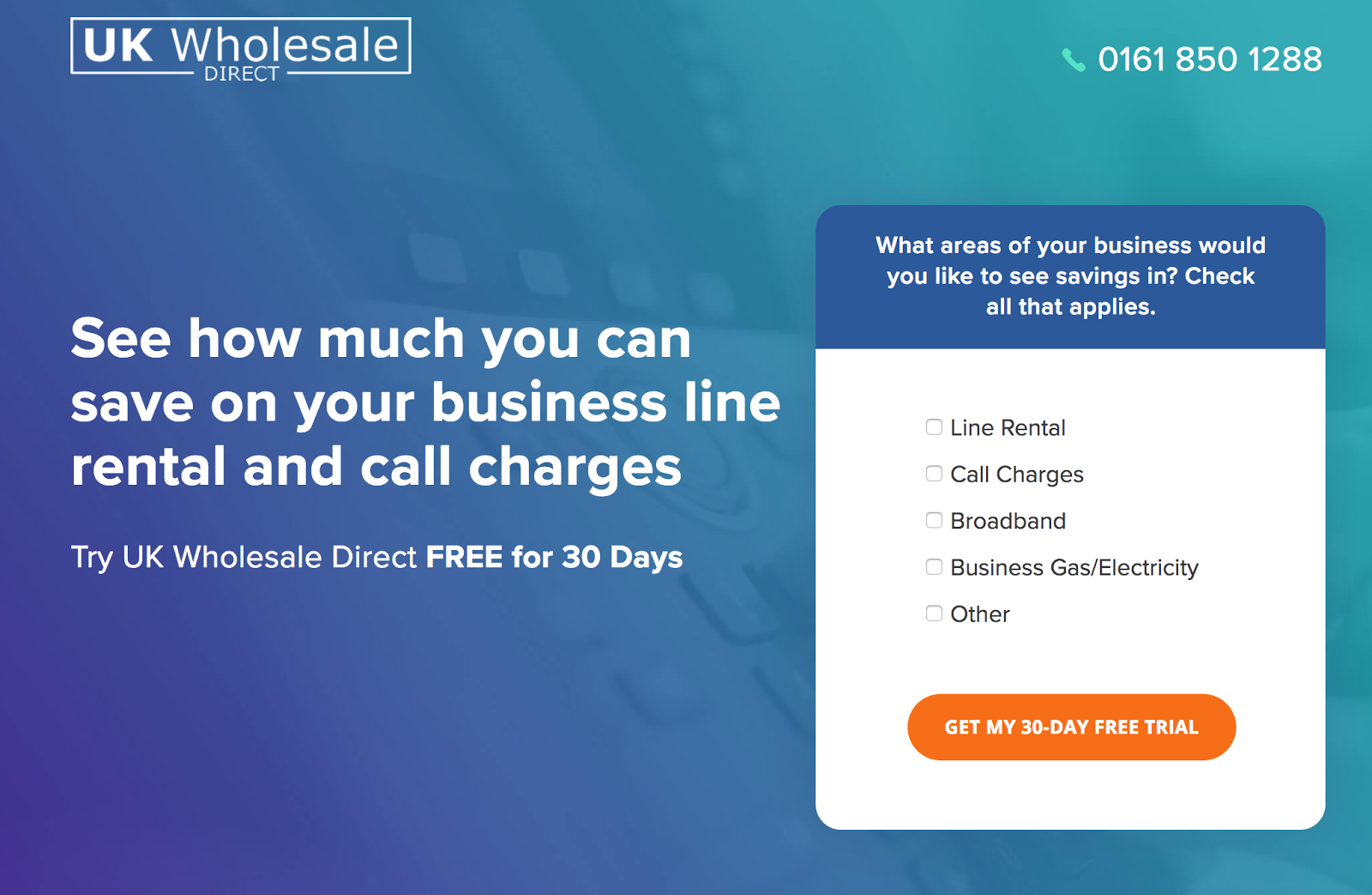 UK Wholesale has tracking on the number at the top of the screen.